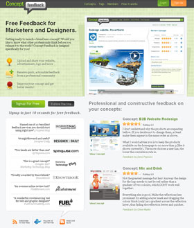 Concept Feedback - Free web design review for marketers, designers and developers