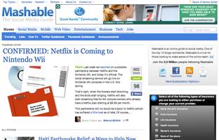 Mashable Redesign: What Draws Attention?