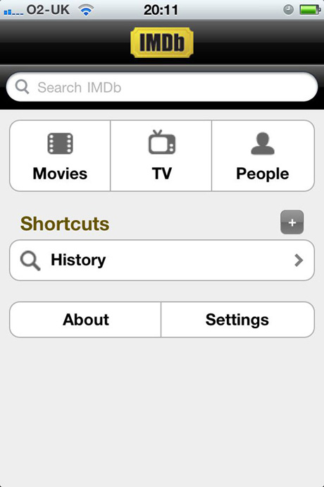 IMDB Mobile site