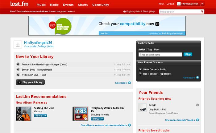 Last.fm website