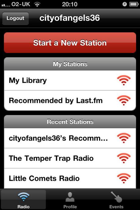 Last.fm iPhone app