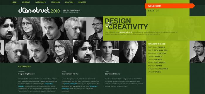 dConstruct 2010 website