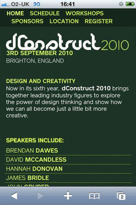 dConstruct iPhone site