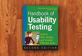 Book cover: Handbook of Usability Testing