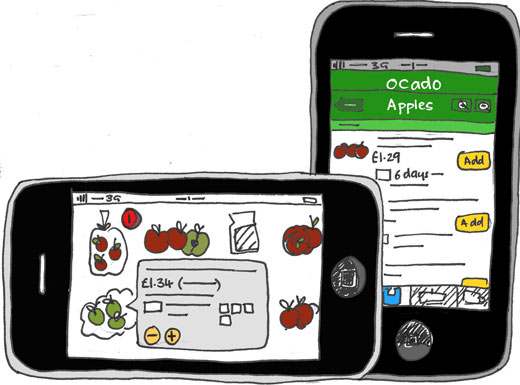 Ocado iphone app allows you to purchase products easily