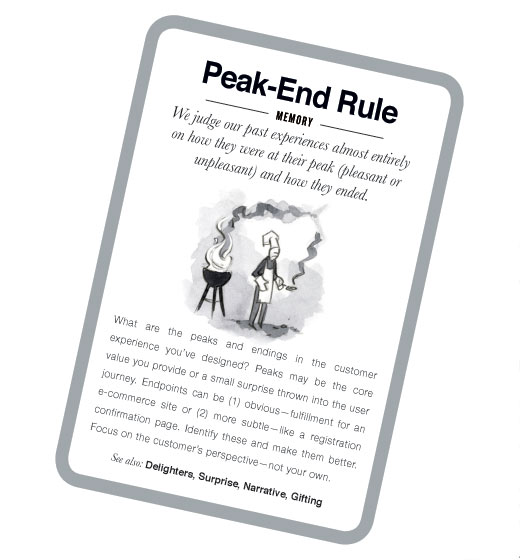 Mental notes: Peak-end rule