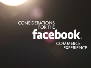 Considerations for the Facebook Commerce Experience