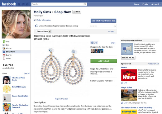 Molly Sims Shop on Facebook