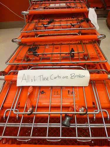 These carts are broken.