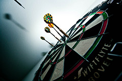 Bull's eye photo (dartboard) by Aaron Sarauer