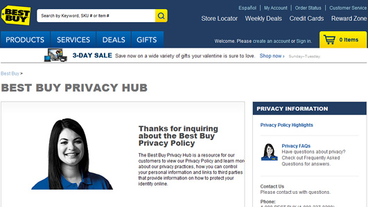 The Best Buy Privacy Hub