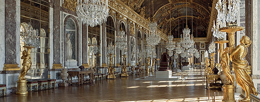Louis XIV's Hall of Mirrors at Versailles