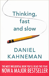 Book cover for Thinking, Fast and Slow by Daniel Kahneman