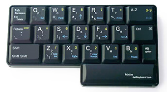 The half-QWERTY keyboard from Matias