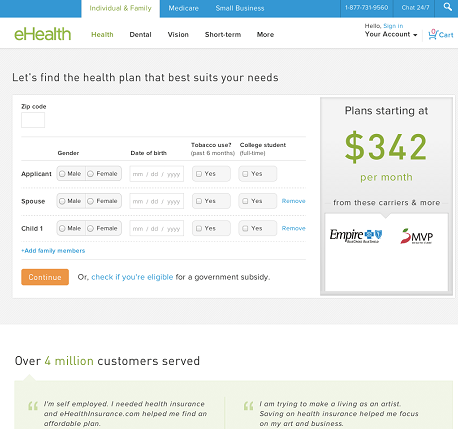 eHealth website