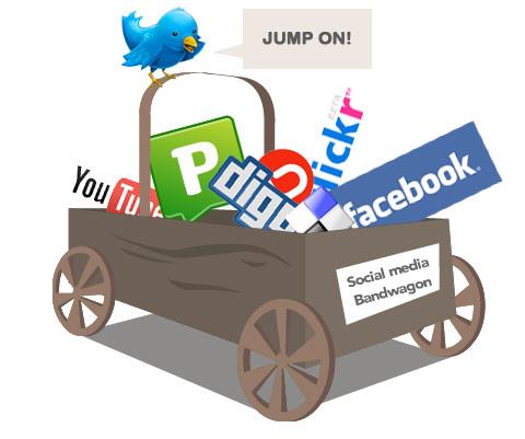 The social media bandwagon
