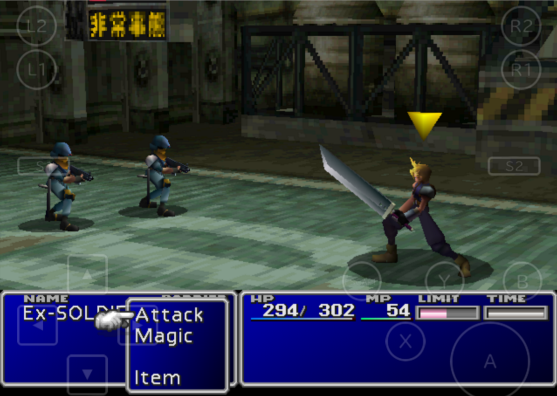 An image from a Final Fantasy battle, with the user choosing a magic attack.
