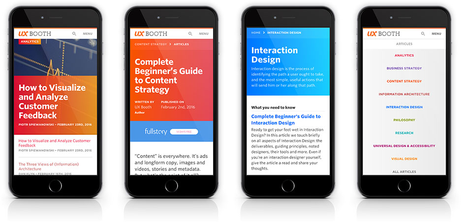 UX Booth Mobile Design Examples