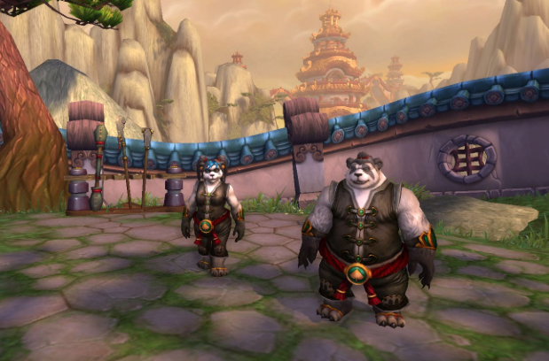 Image of the authors as their World of Warcraft avatars. They're both pandas. And awesome.