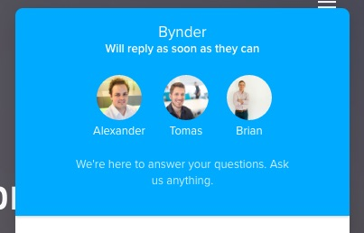 Bynder shows three agent images with names and says they'll be available shortly.