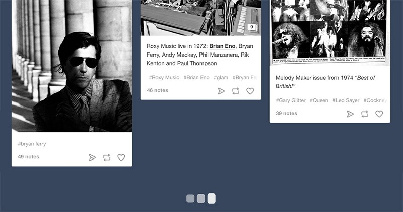 "Subtle animations (such as Tumblr's loading indicator) tell the user ""I'm loading some more content for you."""