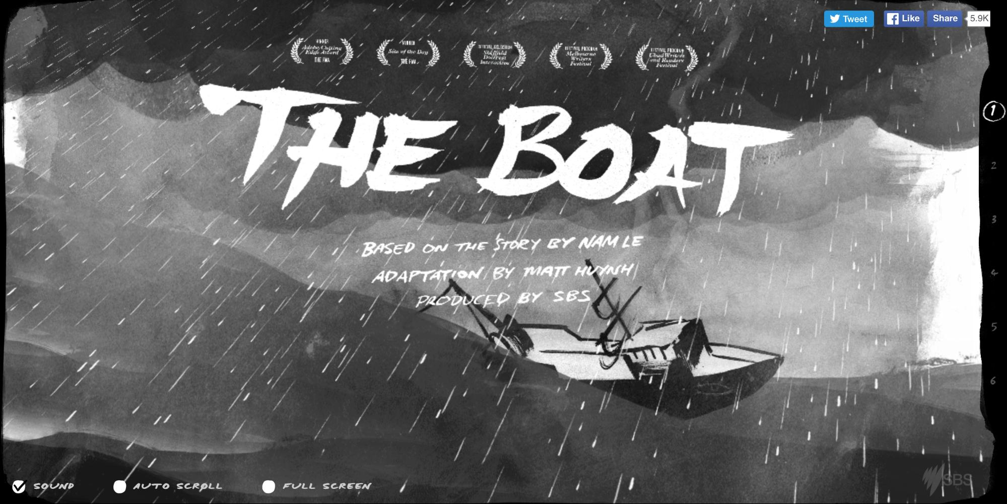 The Boat tells a story in a smooth, linear fashion.