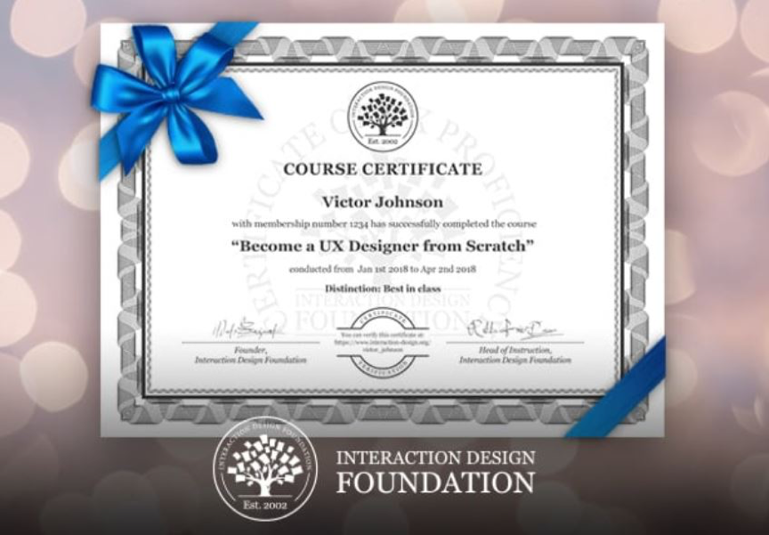 mock up of a completion certificate