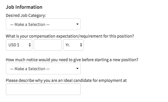 categories-on-a-job-application-webpage
