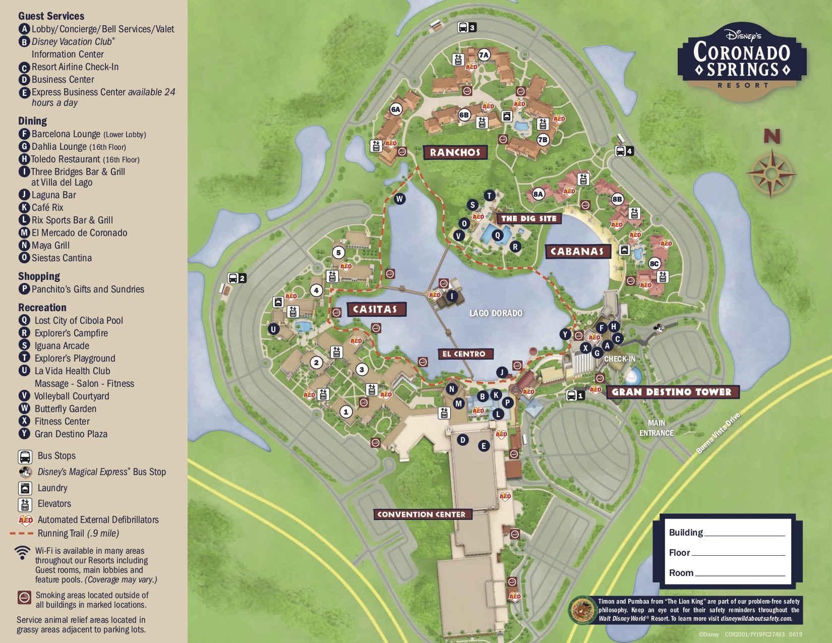 a map of the Coronado Springs resort