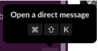 Screenshot of Slack application