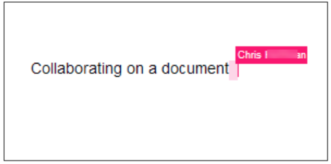 Google Document showing real time collaboration while editing a document