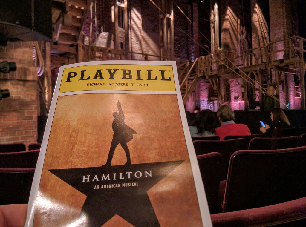 Hamilton the Musical Playbill