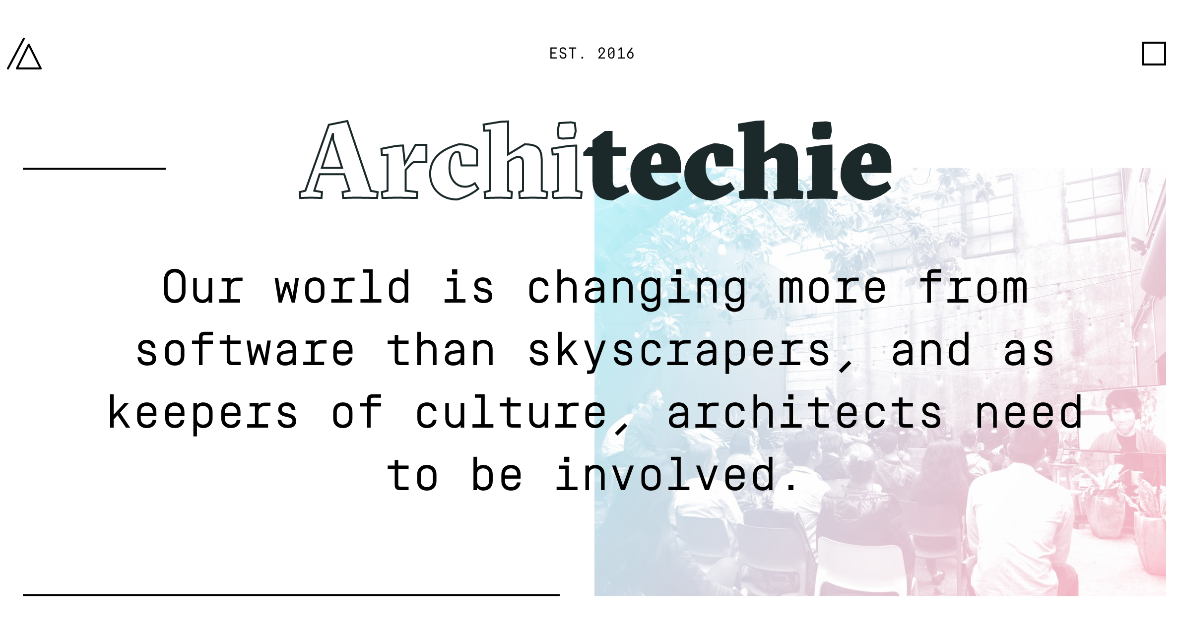Screenshot of Architechie homepage