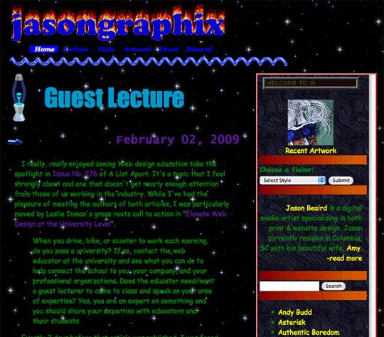 Screenshot of brutalism website design