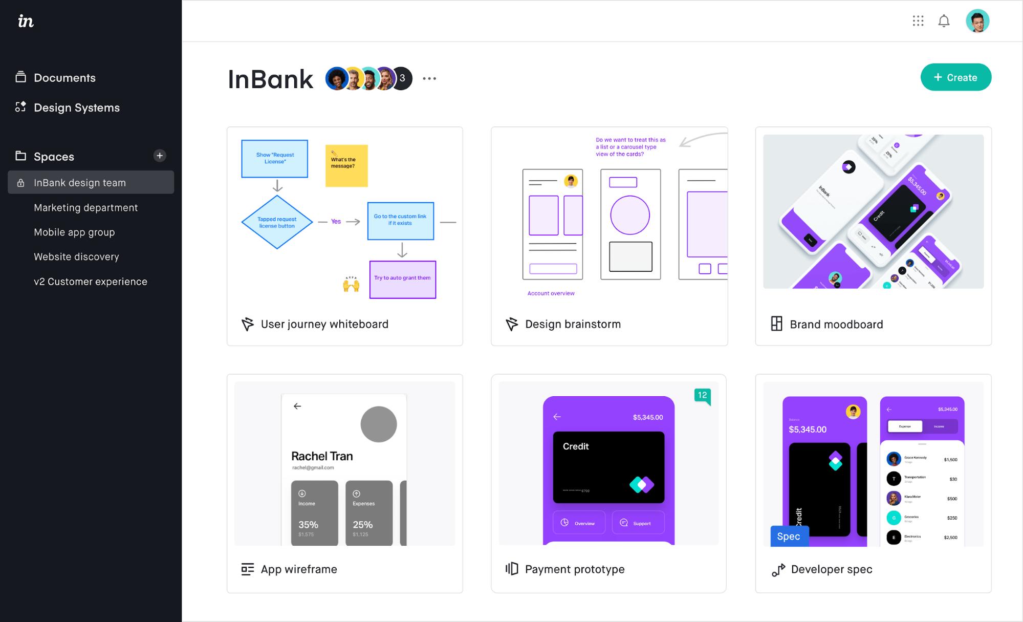 Captura de pantalla de la aplicación Invision