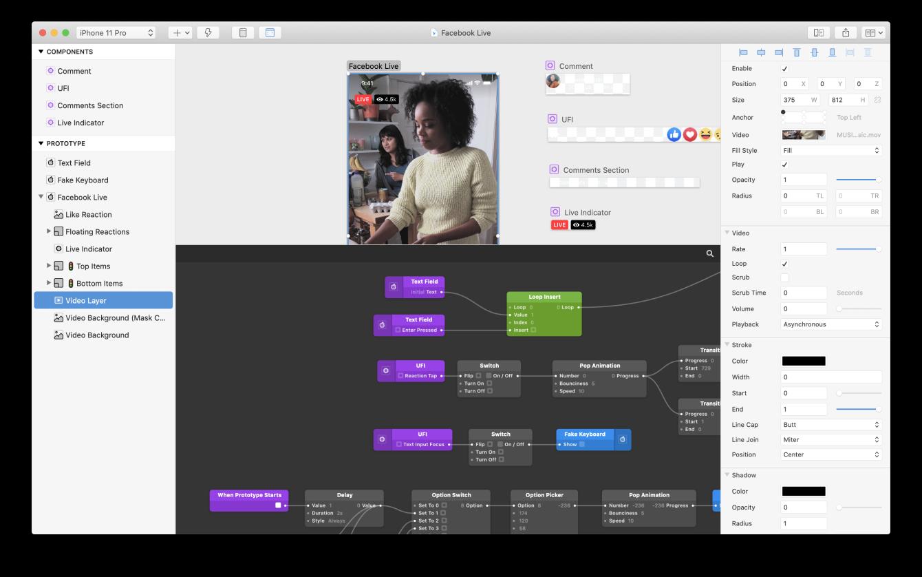 Captura de pantalla de la aplicación Origami