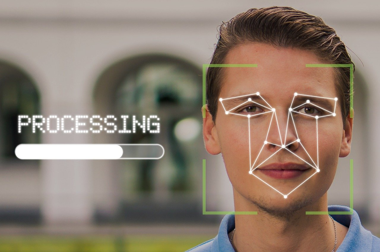 Example of facial recognition software