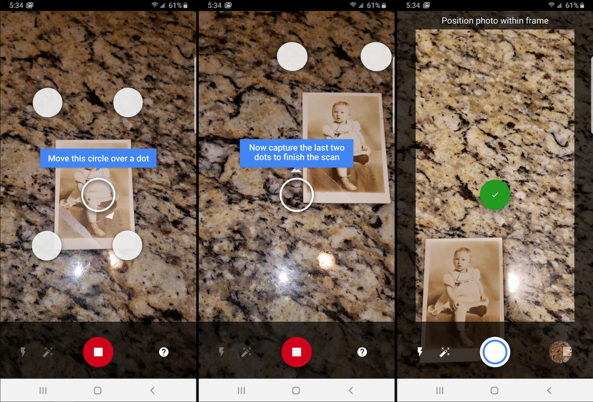 Photo scan within Google Photos app onboarding