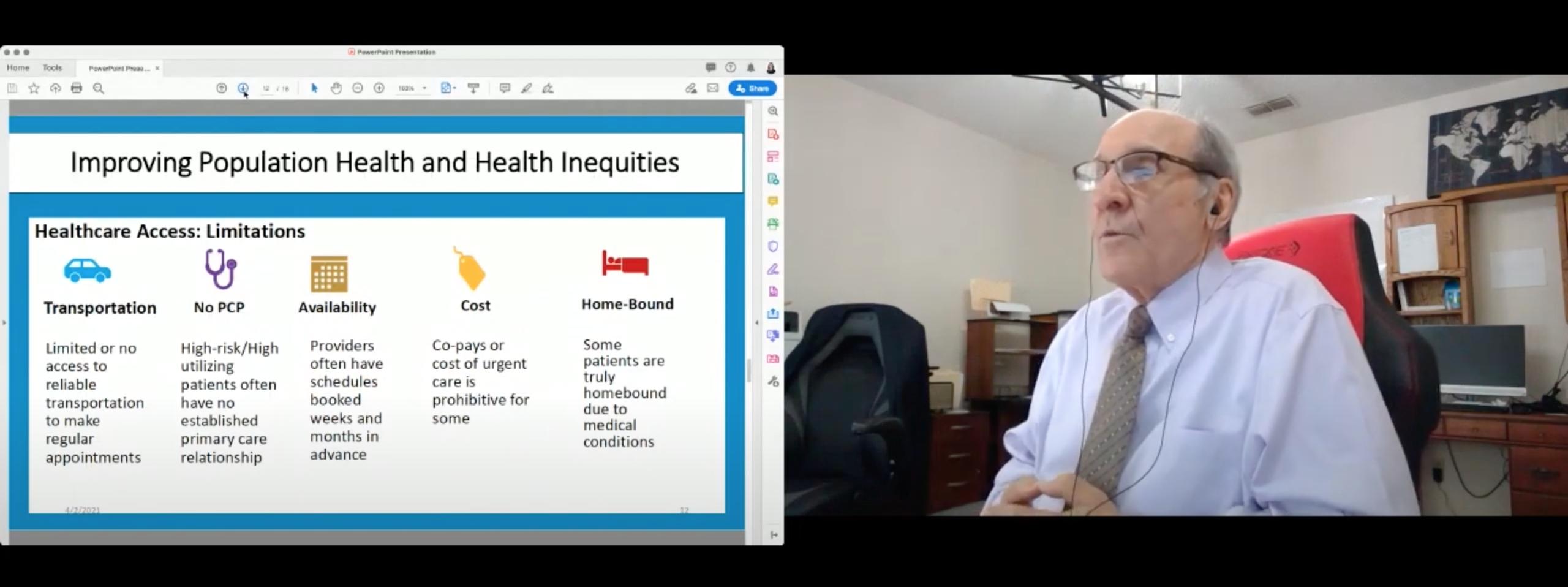 captura de pantalla de la conferencia