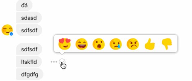 Screenshot of Facebook message