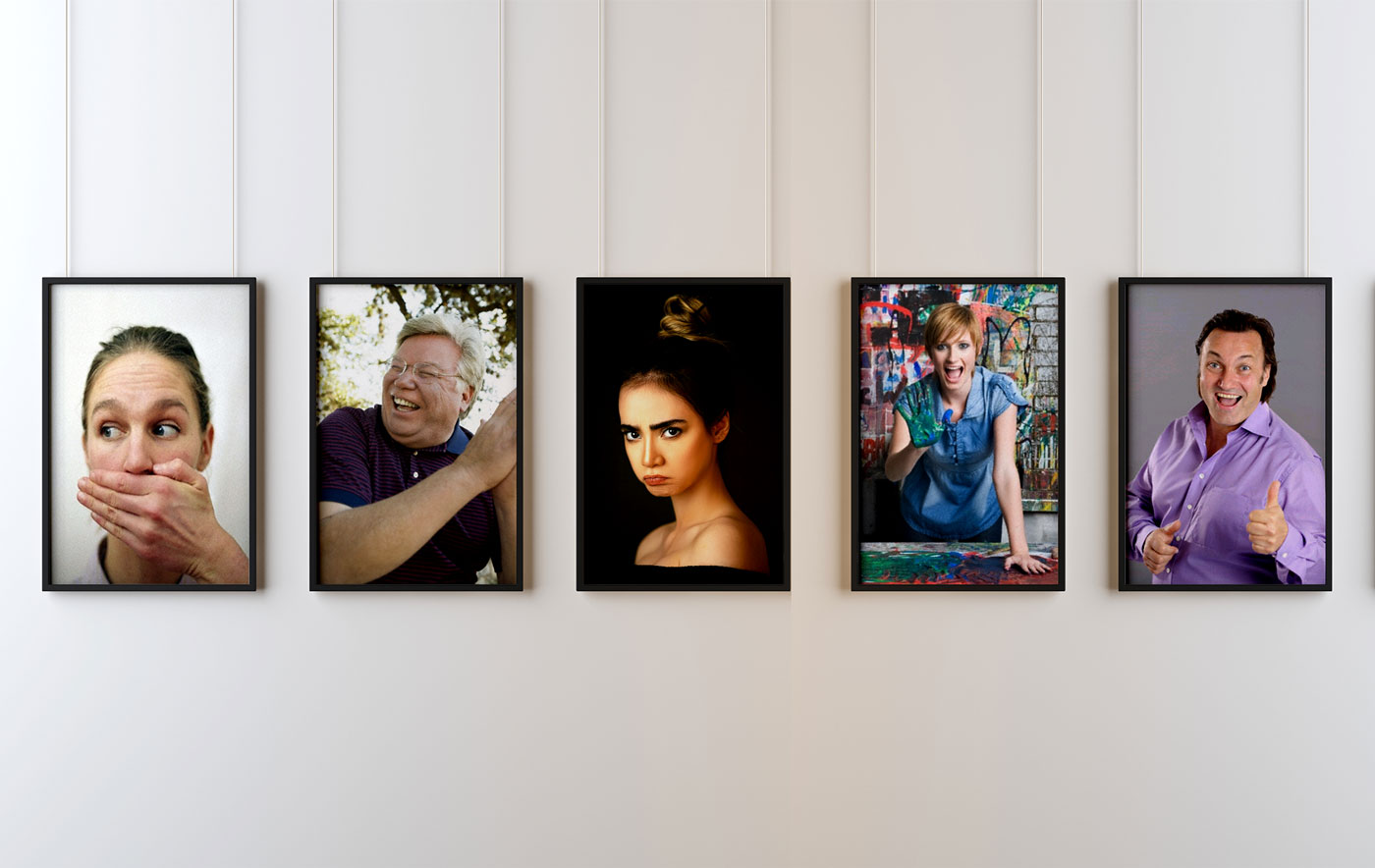 Portraits of the 5 personas