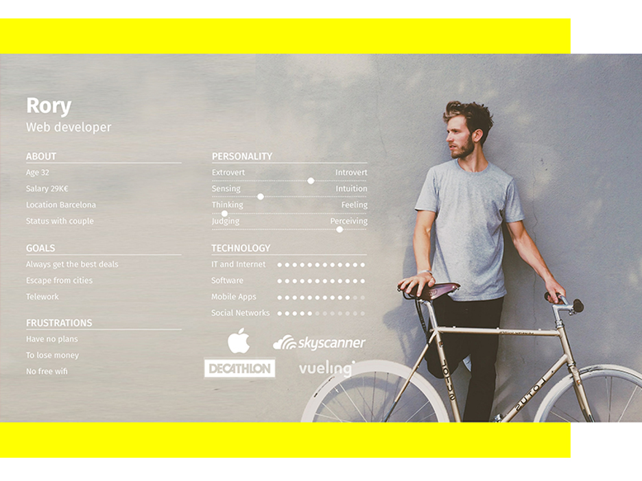 Example of a persona for a web developer