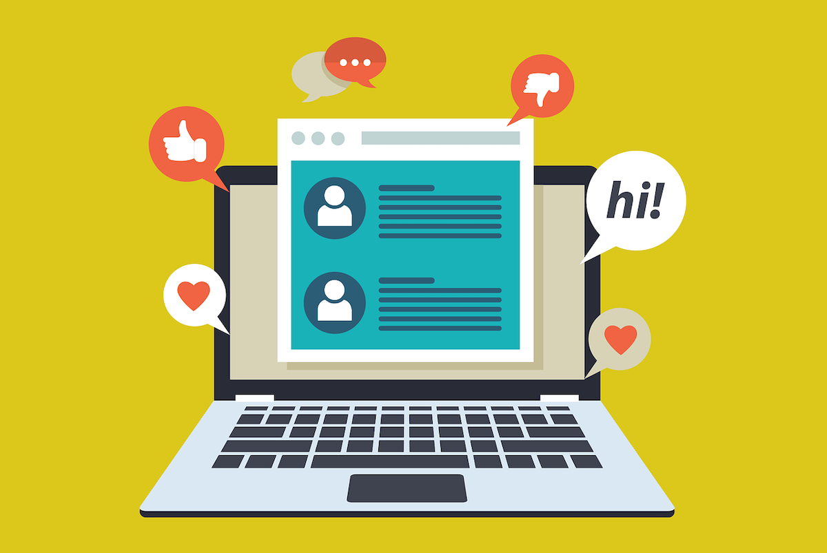 online chat illustration