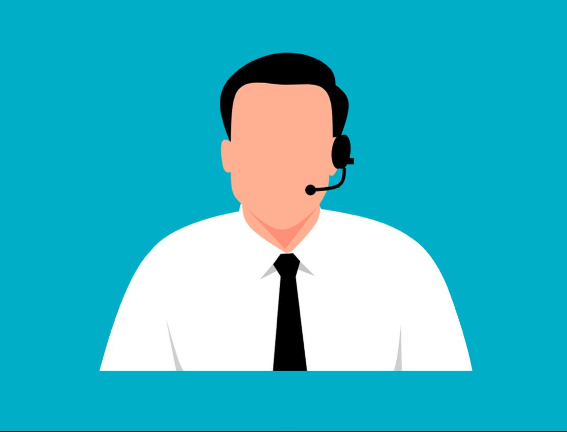 Customer Service agent illustration